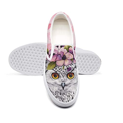 Aijhor Fas Slip On Sneakers for Women Lightweight Flower Floral Sunflower Running Shoes Canvas