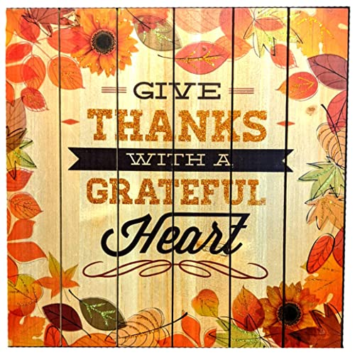 Buy Hobby Lobby Wooden Give Thanks Wall Decor Fall Autumn Wall Sign Grateful Heart Plaque For Thanksgiving With Jute Hanger 13 38 X 13 38 Inches Online In Kuwait B08dn6l1vk