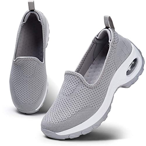 Women's Sneakers Breathable Shape-Ups Silp On Air Cushion Sport Casual Shoes JA