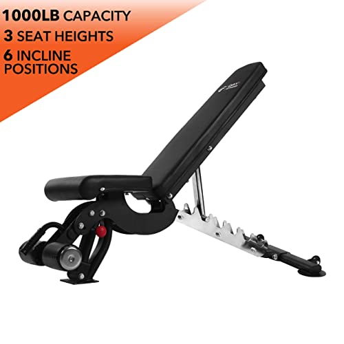 sportsroyals Utility Flat Weight Bench Barbell Training Home Gym Exercise Black Heavy Duty Fitness Weight Bench for Weight Press