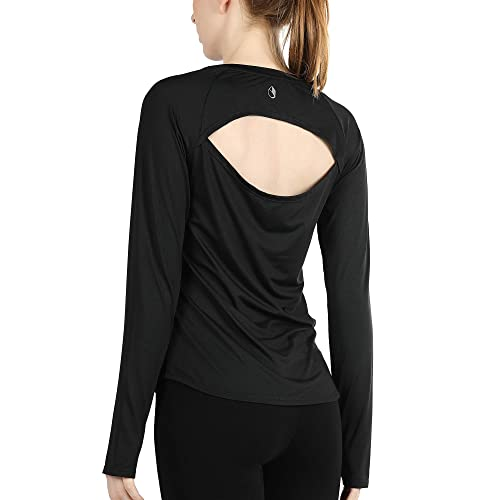 Long Sleeve Compression Thermal Workout Tops for Women Dry Fit Running T-Shirts with Thumbholes