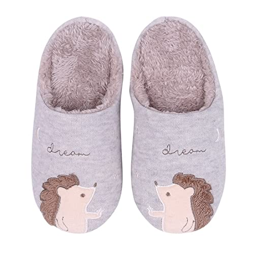 Animal House Slippers Cute Deer Soft Plush Clog Family House Shoes Christmas Gifts