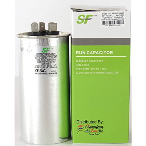 TRANE 30+5 MFD 370//440V 1-Pack Dual Run Capacitor-Round for Motor /& Compressor