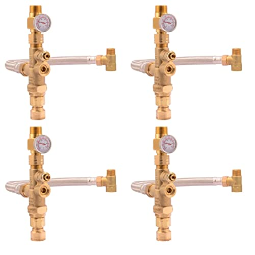Buy Cash Acme Water Heater Tank Booster Pro Thermostatic Mixing Valve 3 4 With Temperature Gauge Braided Hose Domestic And Commercial Application Pack Of 4 Online In Kuwait B07j2th2gf