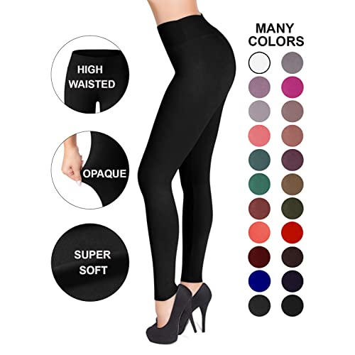 a0235d5ee1f19d Buy SATINA High Waisted Leggings - 25 Colors - Super Soft Full Length  Opaque Slim with Ubuy Kuwait. B074R27W46
