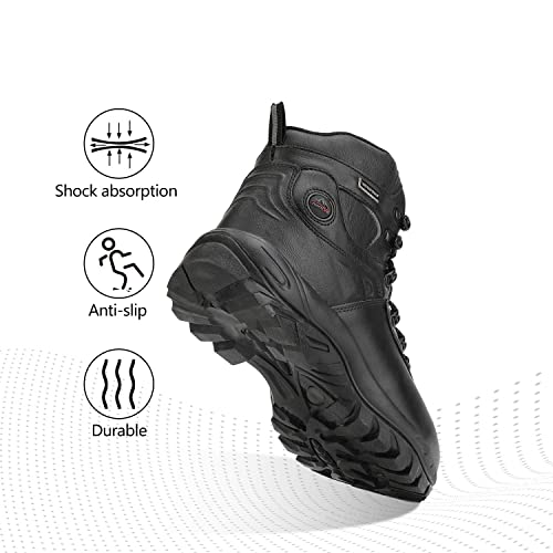 NORTIV 8 Mens Waterproof Hiking Boots Outdoor Mountaineering Trekking Mid Backpacking Shoes JS19002M