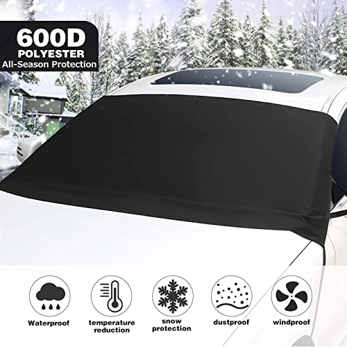 FREESOO Windscreen Cover Sun Shade UV Cover Magnetic Windshield Protector Aluminum Shield Screen Keep Car Cool Dust Frost Snow Ice Cover in all Weather Large 190cm*126cm