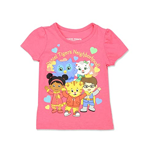 Children Daniel Tigers Neighborhood Girls Petticoat Falbala T-Shirt Cute T Shirts Skirt Dresses 2-6T