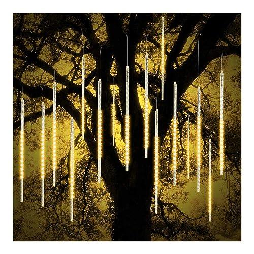 US 50CM 540 LED 10 Tubes Meteor Shower Rain Light Christmas Xmas Tree Decor WHIT
