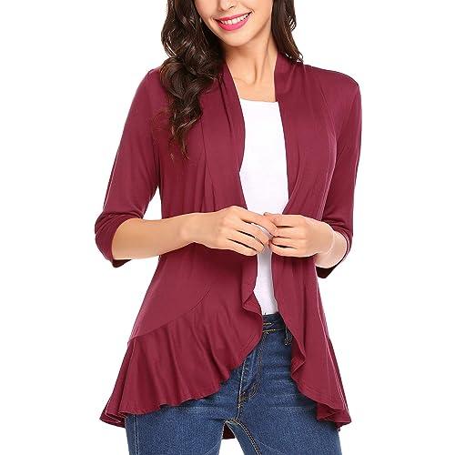 DFF Shop Womens Lightweight Open Drape Sleeveless Cardigan Vest Size: S - 5X
