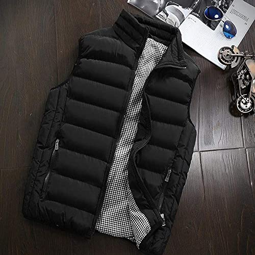 Allywit Mens S-5XL Packable Puffer Down Vest Button Down Jacket Coat Big and Tall