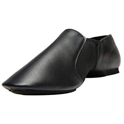 Rabicos Leather Upper Slip-On Jazz Dance Shoes for Girls and Boys Toddler//Little Kid//Big Kid