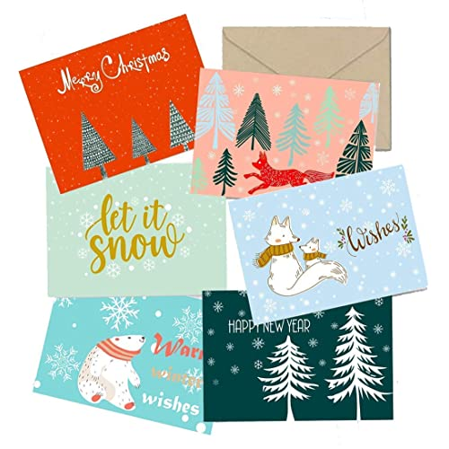 """2020 Happy New Year Cards 4.25 x 5.5/"""" Black Holiday Greetings Fold Over Cards /& Envelopes for New Year/'s Gifts and Presents 25 Cards and 25 Envelopes per Pack"""