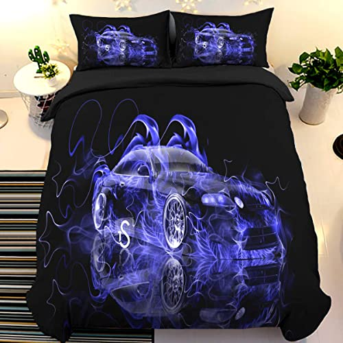 Santiago Retro Car Bedding Duvet Quilt Cover Set Single Double King