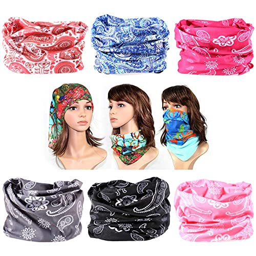 Assorted Seamless Headbands for Men//Women Athletic Moisture Wicking Headwear for Sports Cycling Arm Band Hiking Climbing,Bandana Headwrap Scarf Neck Gaiter Turban Mask Black