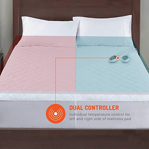 54x75 Inch Customizable Heat Zones Fit 15 Inch Therapeutic Heated Mattress Pad Full Size Bed Electric Bed Warmer Lower Energy Bill /& Relieve Sore Muscles//Joints 12.5ft Cord