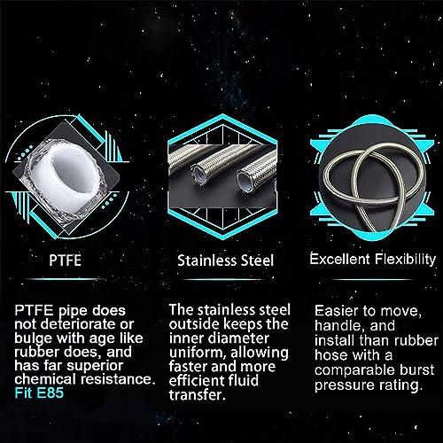EVIL ENERGY 6 AN PTFE Teflon E85 Tube Fuel Line Fittings Kit 16ft//5m