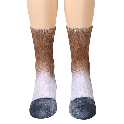 UK Womens Mens Animal Socks Animal Paw Crew Socks Sublimated 3D Print Feet Socks
