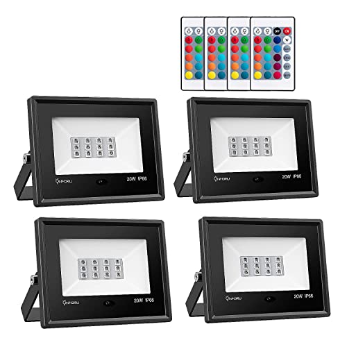 Rgb Led Flood Lights 20w Outdoor Color Changing Floodlight