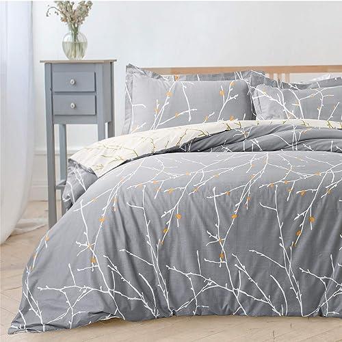 Bedsure Luxury Printed Duvet Cover Set Modern Microfiber With