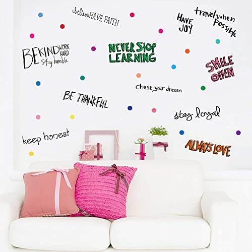 Buy Parlaim Inspirational Wall Decals Motivational Phrases Sticker Wall Decals Quotes Removable Decals For Kids Home Decoration Living Room Bedroom Positive Sayings Window Cling Decor And Classroom Online In Kuwait B07x7w2zfp