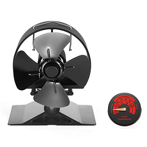 Mini Size 8 Blade Stove Fan 30/% Larger Than 4 Blades Silent Heat Powered Wood//Log Burner Fan for Ultra Small Space