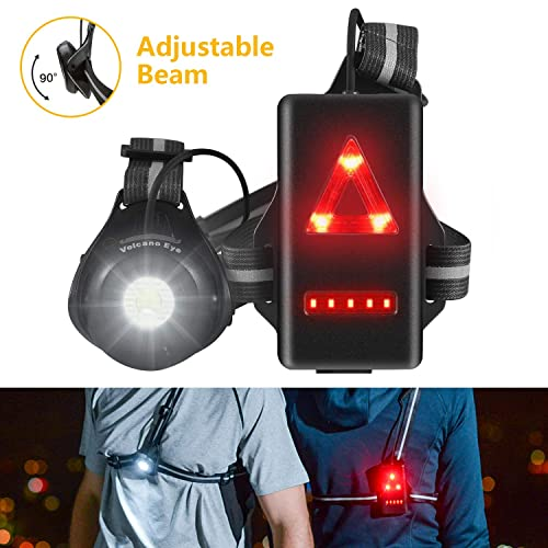 Digity Dogs Running Chest Light,USB Charging Outdoor Sport Running Night Light with Rechargeable Battery,for Camping,Running,Hiking,Jogging,Outdoor Adventure