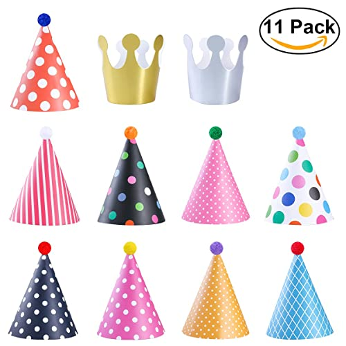 Unique Party 72591 Pack of 8 Donut Party Hats