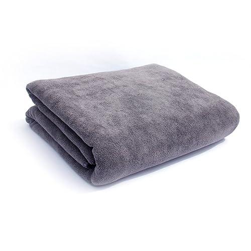 32 x 71 Inch Soft Fast Drying Travel Gym Home Hotel Office Washcloths Black Bath Towels Multi-Purpose Microfiber