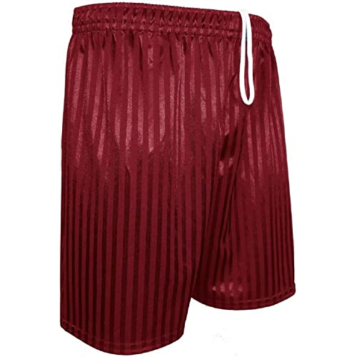 Children,s Boys Girls PE Shorts Shadow Stripe School Sports Ages 2-13 S-XXL