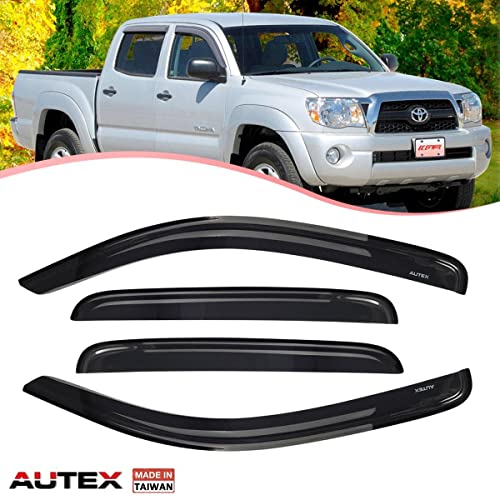 AUTEX Tape-on Window Visor Window Deflector 4Pcs for 2011-2017 Nissan Juke Smoke