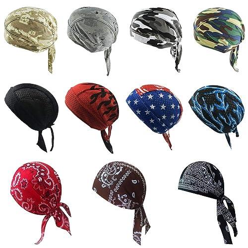VBIGER Bandana Durag Cycling Cap Under Helmet Skull Cap Adjustable Cycling Hat