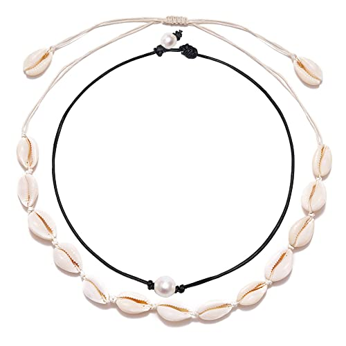 Osemind Puka Shell Necklace Vsco Necklace Shell Pearl Choker Necklace Boho Necklace Beach Jewelry Gift