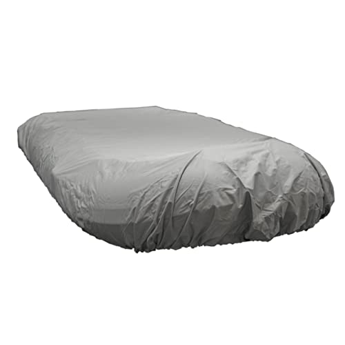 Mildew and Weather Resistant with UV Sun Damage Protection Waterproof 600 Denier Canvas Pyle PCVFLT14 Inflatable Boat Cover Armor Shield Protective Storage 9.5/' to 10.5/' ft