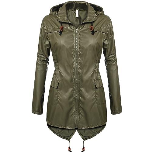 184a304fa Buy Beyove Women's Rain Jacket Waterproof Hooded Lightweight Active Outdoor  Raincoats with Ubuy Kuwait. B072KQVFK6