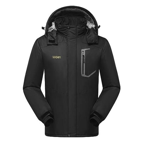 Mden Mens Mountain Waterproof Ski Jacket Windproof Rain Jacket Fleece Snow Winter Coat