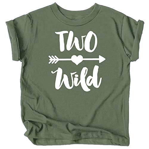 Olive Loves Apple Girls 2nd Birthday Two Shirt for Toddler Girls Second Birthday Outfit
