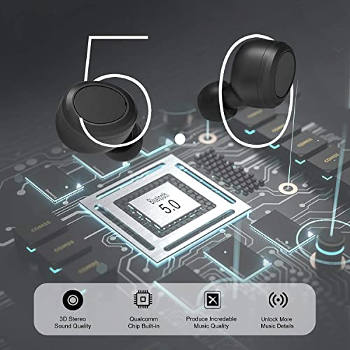 Wireless Earphones 5.0 Bluetooth Headphones i10tws Touch Control Earbuds//earphone With Wireless Charging Case And White Headset Silicone Protector Case Gift By Yllee Music