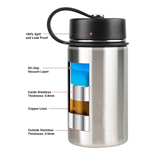 Tahoe Trails 40 oz Double Wall Vacuum Insulated Stainless Steel Water Bottle Spectrum Blue