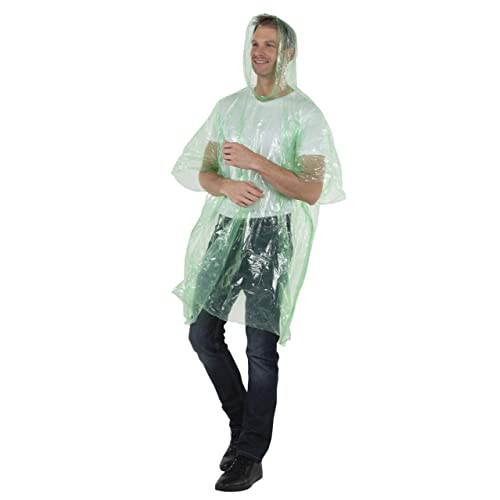 Reusable /& Waterproof Hood Strings /& Sleeves Outfit for Camping Amusement Parks for Men Women /& Teens Disposable Extra Thick Heavy Duty Emergency Ponchos Wealers Rain Poncho for Adults Bulk Pack