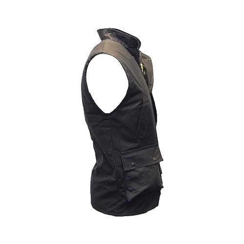Mens Wax Bodywarmer Waistcoat Countrywear Gilet Walker /& Hawkes Olive