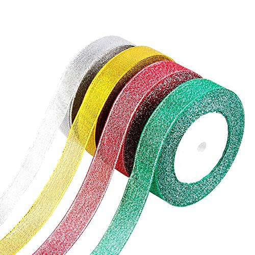 Ancoo 26 Rolls Curling Ribbon Ballon Ribbon Set for Gift Wrapping Valentine Wedding Party Decoration 10m//Roll
