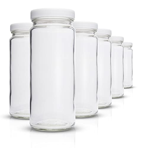 8fb057e7f55f Buy All About Juicing White Replacement Lids for 16 Ounce Wide Mouth ...