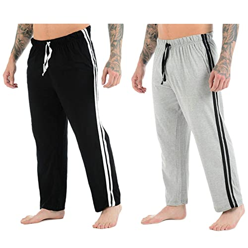 100/%Cotton Men/'s Elasticated Yoga Casual GYM Sport Bottoms Trousers Soft Pajamas
