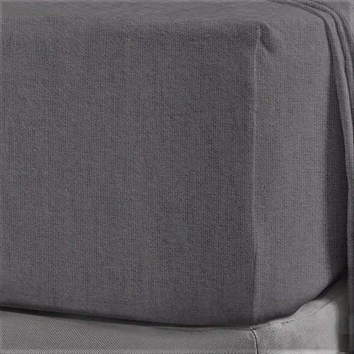 Brushed Cotton Pink Double Fitted Sheet 160 gsm Flannelette Cosy Bedding