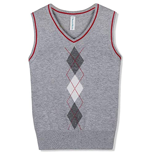 Benito & Benita Boys Sweater Vest School V-Neck Uniforms Pullover Sweaters  with Argyle Patterns for Boys 3-12Y | Buy Products Online with Ubuy Kuwait  in Affordable Prices. B07CTMFX8R