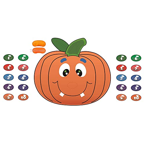 Pumpkin Pin The Nose on The Pumpkin Game with Halloween Tattoos Halloween Party Supplies Halloween Game Halloween Decorations