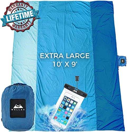 and Festivals Compact Sand-Proof Foldable Mat for Camping Rising Turtle Sand Safe Outdoor Beach Blanket: Large 8X9 Foot Portable Hiking Picnic