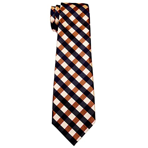 Retreez Classic Check Woven Boys Tie Various Colors 8-10 years