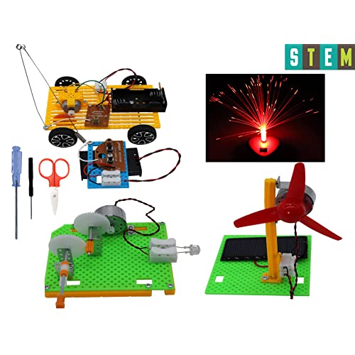 Building and Educational Projects STEM Gifts for Kids Age 6 and up HanSoar Science Kits for Kids DIY Wood Projects Kits 3 Sets DIY Engineering Toys Robotics Building Kits